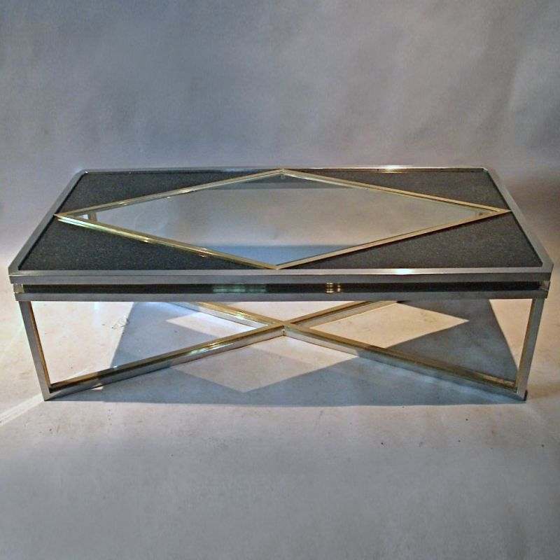 Marble Coffee Table Ornate: Gilt Metal And Marble Coffee Table