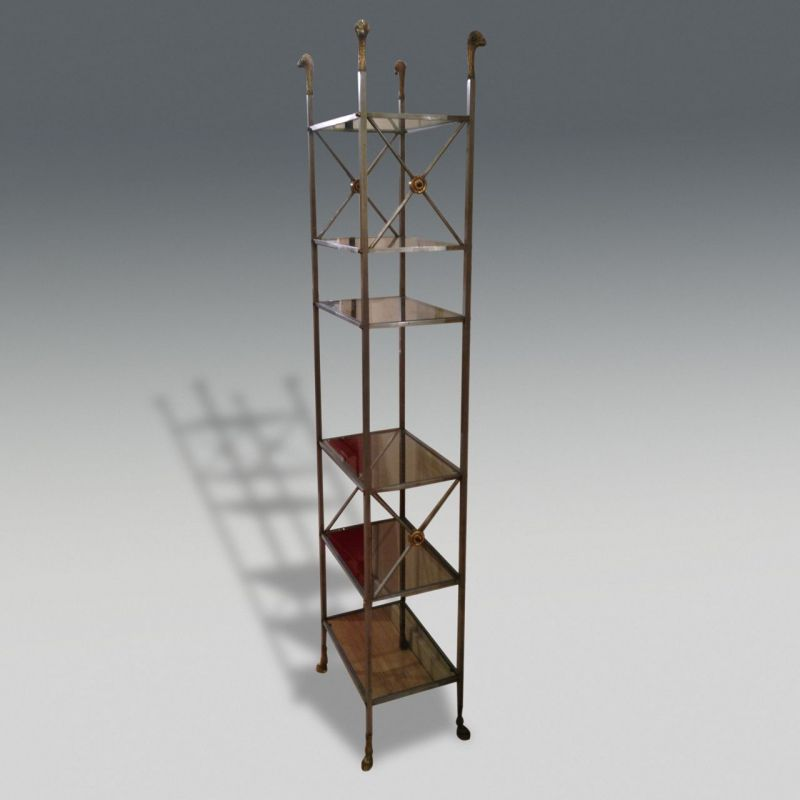 Maison jansen etagere stock zugasti antiques design london - Etagere faite maison ...