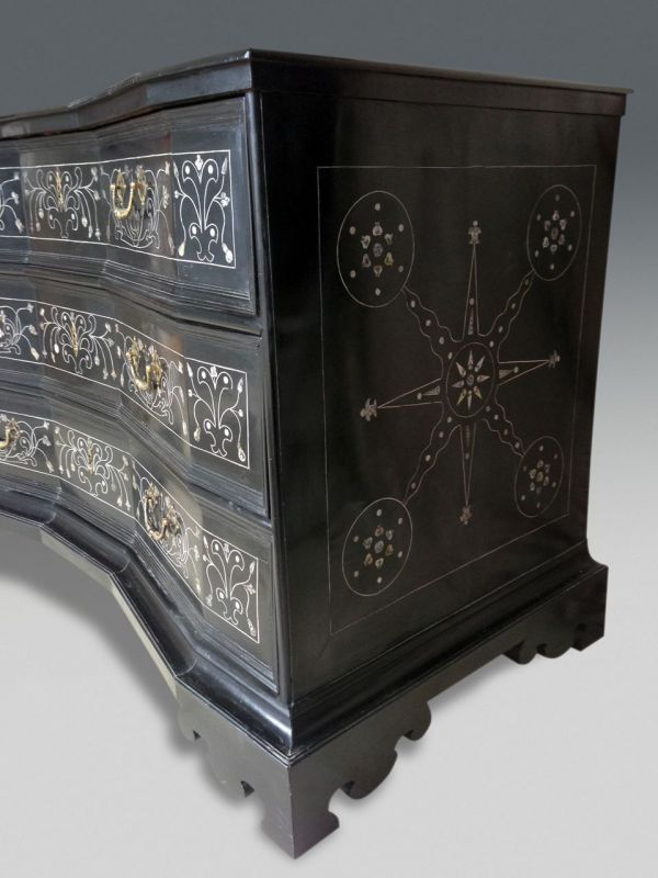 Baroque commode stock christopher jones antiques london decorative an - Commode noire baroque ...